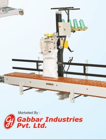 Bag Closing Machine With Wooden Slat Conveyor